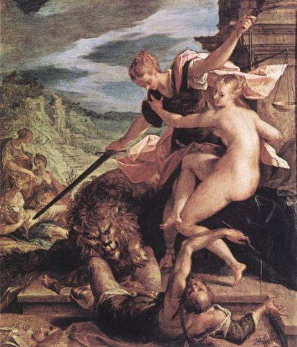 Allegory (The Triumph of Justice), 1598 by Hans von Aachen