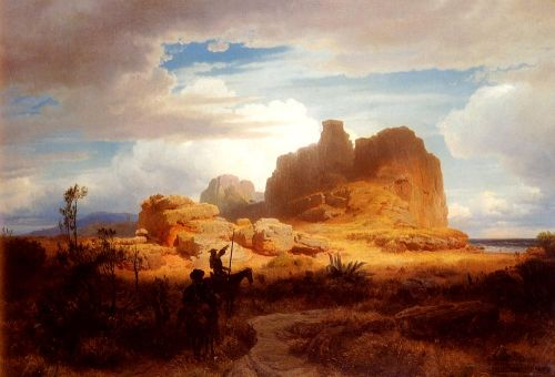 Don Quixote and Sancho Panza, 1850 by Andreas Achenbach