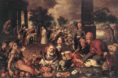 Christ and the Adulteress, 1559 by Pieter Aertsen