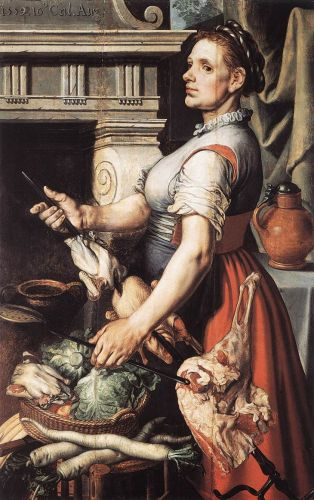 Cook in front of the Stove, 1559 by Pieter Aertsen