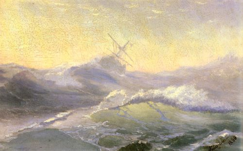 Bracing the Waves, 1890 by Ivan Constantinovich Aivazovsky