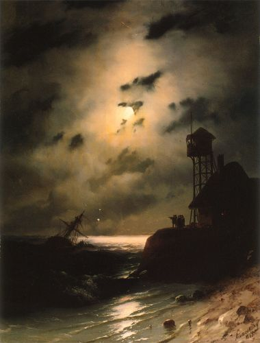 Moonlit Seascape With Shipwreck, 1863 by Ivan Constantinovich Aivazovsky
