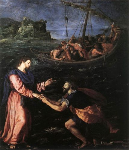 St Peter Walking on the Water, 1590-1599 by Alessandro Allori