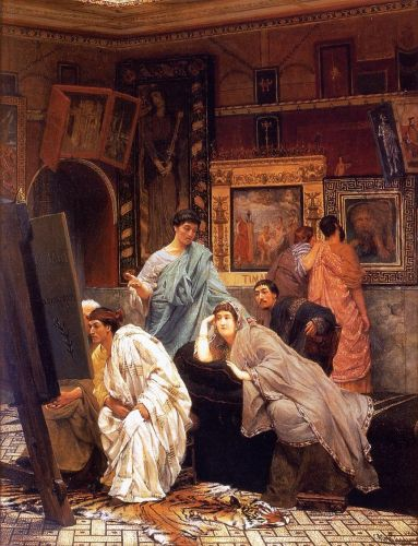 A Collection of Pictures at the Time of Augustus, 1867 by Lawrence Alma-Tadema