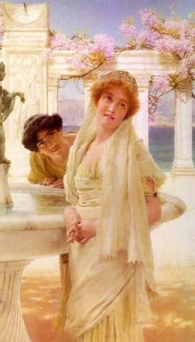 A Difference of Opinion, 1896 by Lawrence Alma-Tadema