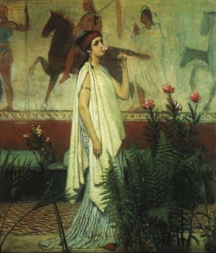A Greek Woman, 1869 by Lawrence Alma-Tadema