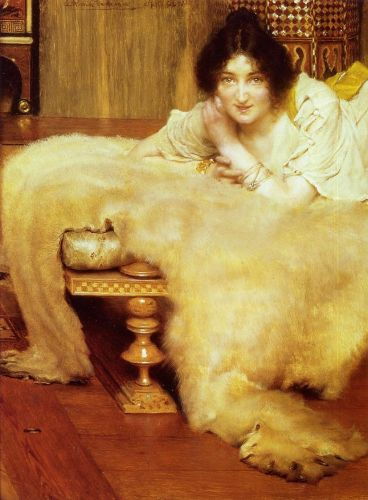 A Listener, 1899 by Lawrence Alma-Tadema