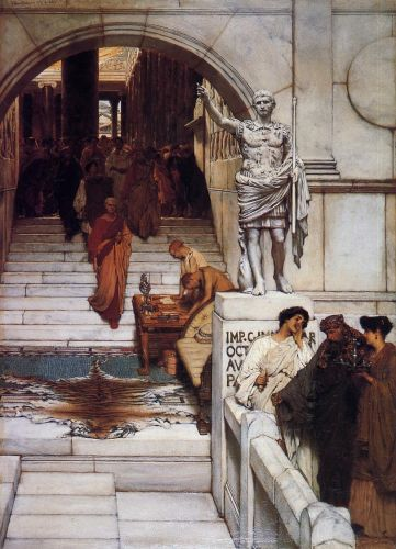 An Audience at Agrippa's, 1876 by Lawrence Alma-Tadema