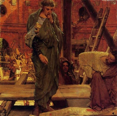 Architecture in Ancient Rome, 1877 by Lawrence Alma-Tadema