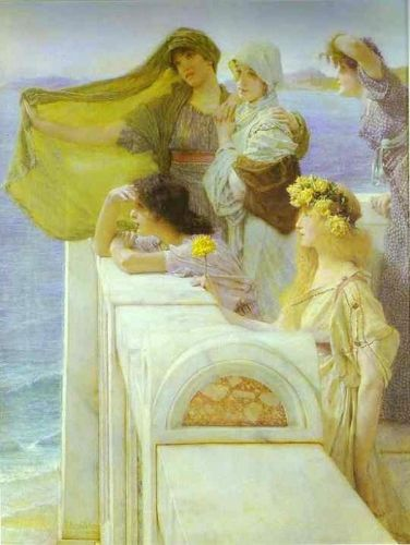 At Aphrodite's Cradle, 1908 by Lawrence Alma-Tadema