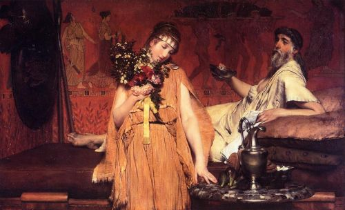 Between Hope and Fear, 1876 by Lawrence Alma-Tadema