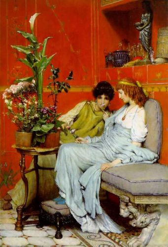 Confidences, 1869 by Lawrence Alma-Tadema