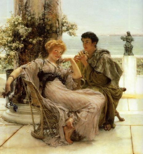 Courtship - The Proposal, 1892 by Lawrence Alma-Tadema