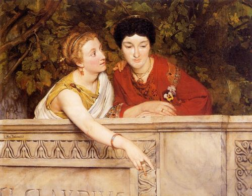 Gallo-Roman Women, by Lawrence Alma-Tadema
