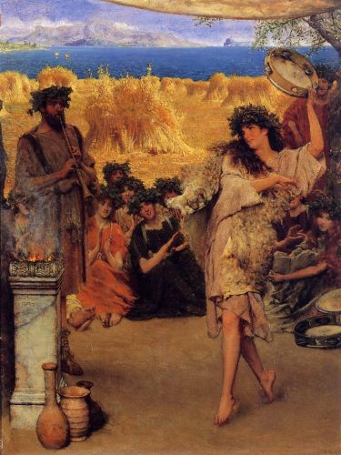 Harvest Festival, 1880 by Lawrence Alma-Tadema