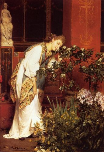 In the Peristyle, 1866 by Lawrence Alma-Tadema