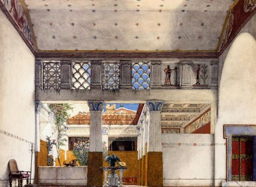 Interior of Caius Martius's House, 1907 by Lawrence Alma-Tadema