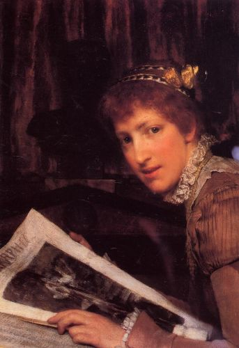 Interrupted, 1880 by Lawrence Alma-Tadema