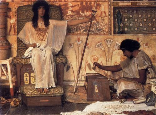 Joseph, Overseer of Pharaoh's Graneries, 1874 by Lawrence Alma-Tadema
