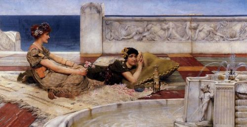 Loves Votaries (Love in Idleness), 1891 by Lawrence Alma-Tadema