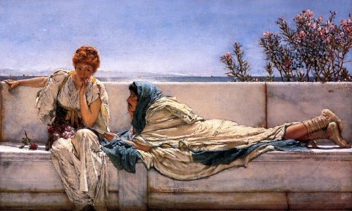Pleading, 1876 by Lawrence Alma-Tadema