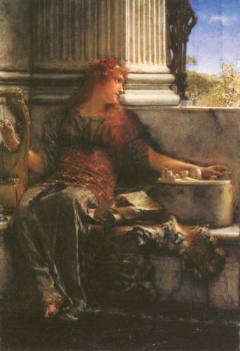 Poetry, 1879 by Lawrence Alma-Tadema