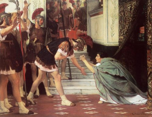 Proclaiming Claudius Emperor, 1867 by Lawrence Alma-Tadema