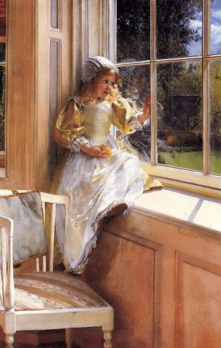 Sunshine (A looking out o'window), 1881 by Lawrence Alma-Tadema