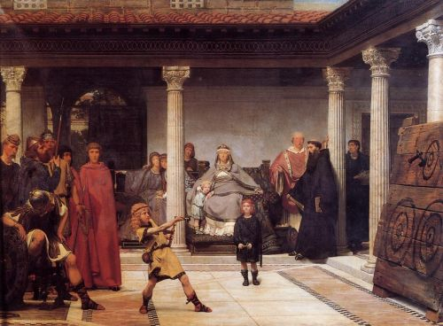 The Education of the Children of Clovis, 1861 by Lawrence Alma-Tadema