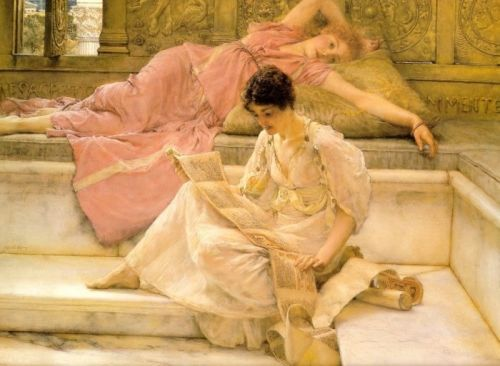 The Favourite Poet, 1888 by Lawrence Alma-Tadema