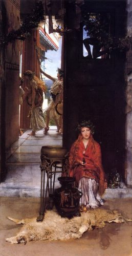 The Way to the Temple, 1882 by Lawrence Alma-Tadema