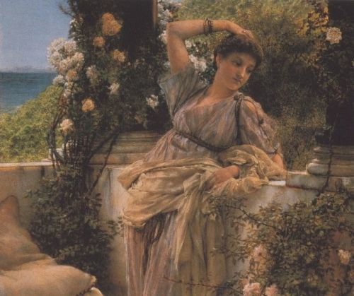Thou Rose of All Roses, 1885 by Lawrence Alma-Tadema
