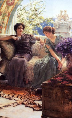 Unwelcome Confidence, 1895 by Lawrence Alma-Tadema