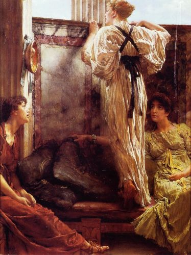 Who is It, 1884 by Lawrence Alma-Tadema