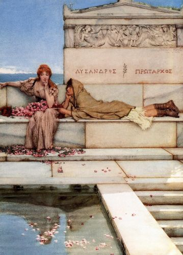 Xanthe and Phaon, 1883 by Lawrence Alma-Tadema