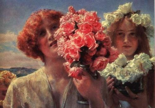 Young Girls with Roses (Summer Offering), 1911 by Lawrence Alma-Tadema