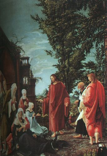 Christ Taking Leave of His Mother, 1520 by Albrecht Altdorfer
