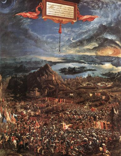 The Battle of Alexander, 1529 by Albrecht Altdorfer