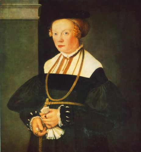 Portrait of Felicitas Seiler, 1537 by Christoph Amberger
