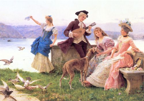 A Day's Outing, 1887 by Federico Andreotti