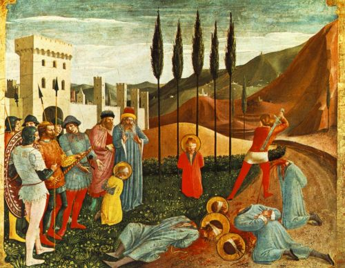 Beheading of Saint Cosmas and Saint Damian, 1438-1440 by Frà Angelico