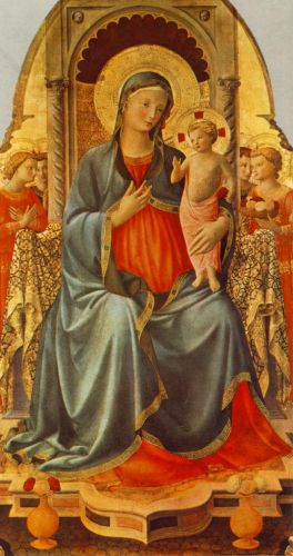 Madonna with the Child and Angels, 1435-1436 by Frà Angelico
