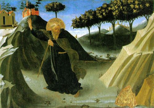 Saint Anthony the Abbot Tempted by a Lump of Gold, 1436 by Frà Angelico