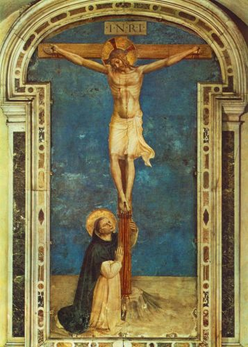 Saint Dominic Adoring the Crucifixion, 1440 by Frà Angelico