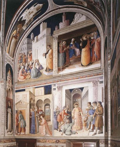Scenes from the Lives of Sts Lawrence and Stephen, 1447-1449 by Frà Angelico