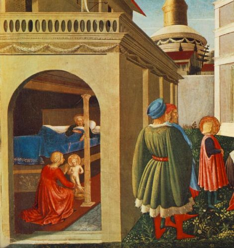 Story of St Nicholas: Birth of St Nicholas by Frà Angelico