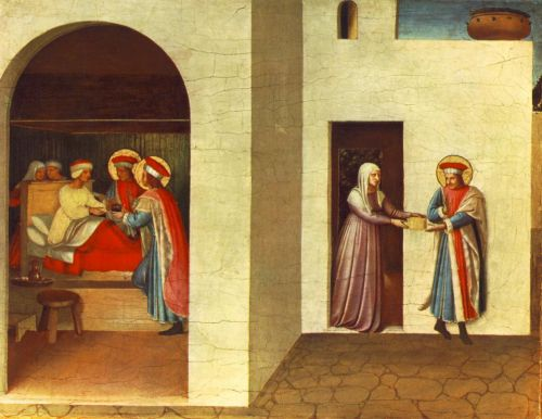 The Healing of Palladia by Saint Cosmas and Saint Damian by Frà Angelico