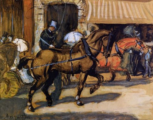 In the Street, 1890 by Louis Anquetin