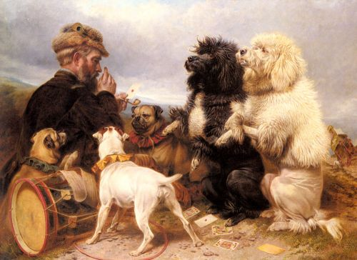 The Lucky Dogs, 1881 by Richard Ansdell