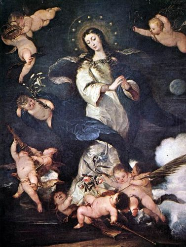 Immaculate Conception, 1666 by Josè Claudio Antolinez